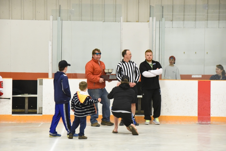 Marshal Spear awards Cup on behalf of the Spear Family